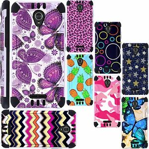 best website 80151 46f97 Details about For ZTE ZMax One LTE Z719DL Phone Case Brush Hybrid Cover  KombatGuard F6