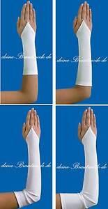 Brauthandschuhe-Handschuhe-Armstulpen-Hochzeit-weiss-ivory-neu