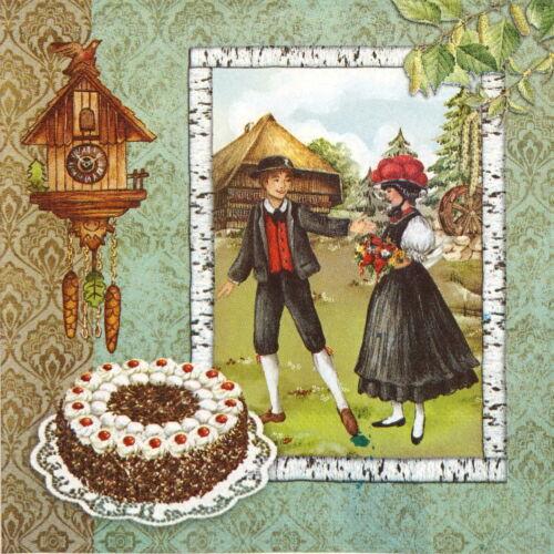 4x Carta Tovaglioli per Decoupage Decopatch artigianato tradizione