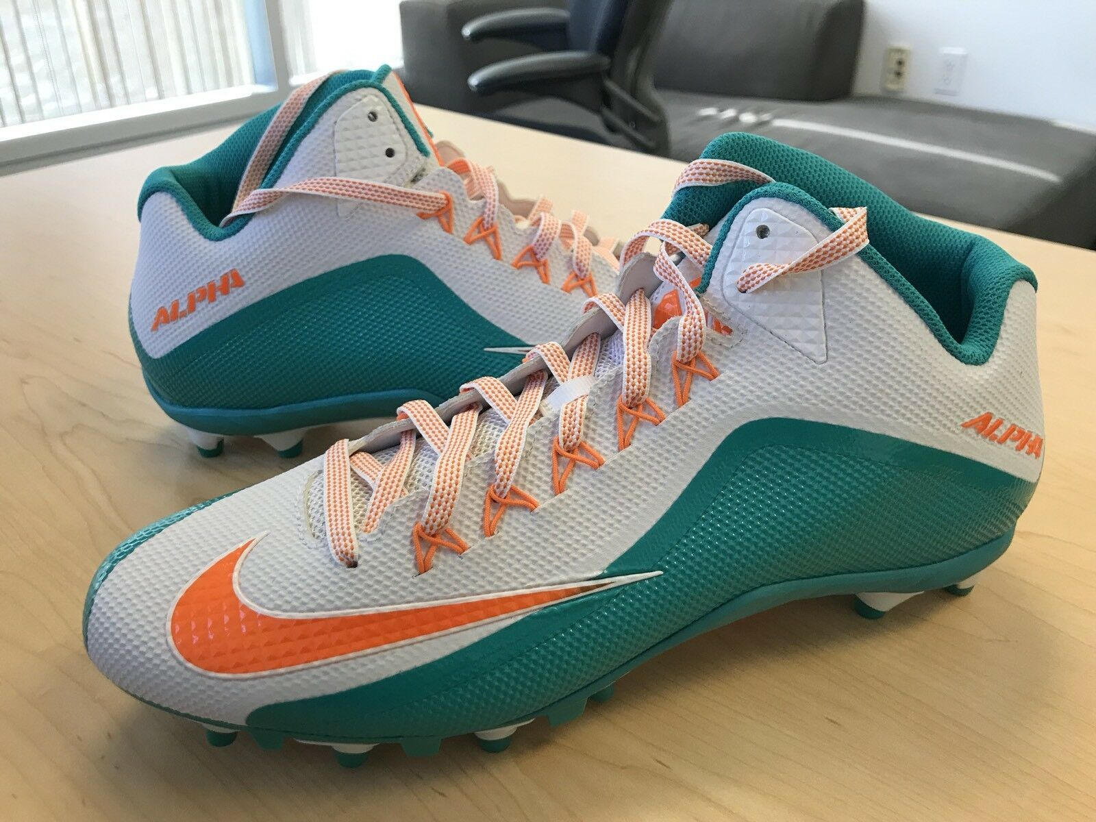 NEW Nike Alpha Pro 2 3/4 TD PF 729444 117 Miami Dolphins Comfortable