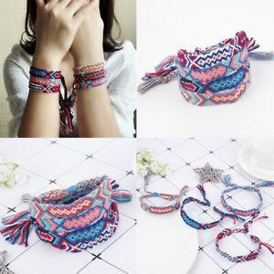 Multicolor-Boho-Ethnic-Handmade-String-Woven-Braided-Friendship-Lucky-Bracelet