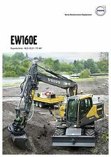 Volvo Construction EW160E 05 / 2015 catalogue brochure excavator Bagger pelle