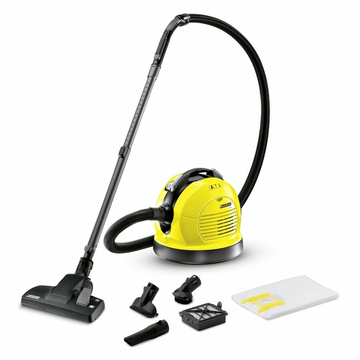 Karcher VC 6, 600 W 135.3oz 73 Decibels Yellow System Easy-Slide prevents the