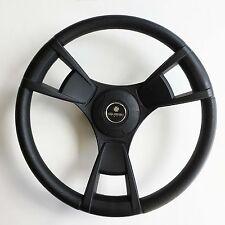 New OEM Gussi Boat Steering Wheel M13 Black All Plastic ABS & Aluminum Keyed Hub