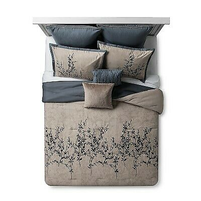 Bella Rose Taupe Queen 8 Pc Embroidered Comforter Set For Sale Online Ebay