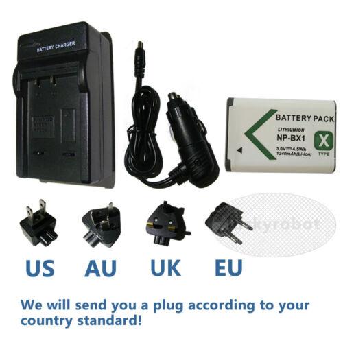 Batería + Cargador para SONY NP-BX1 DSC-WX500 HDR-AS200 PJ410 CX405 FDR-X3000R