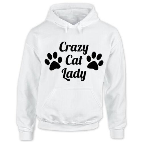 Kitten Pet Lady Animal Lover Adult Hooded Top New Ladies Crazy Cat Hoodie