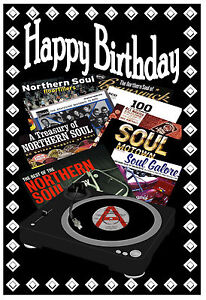 happy birthday card northern soul motown record covers brand