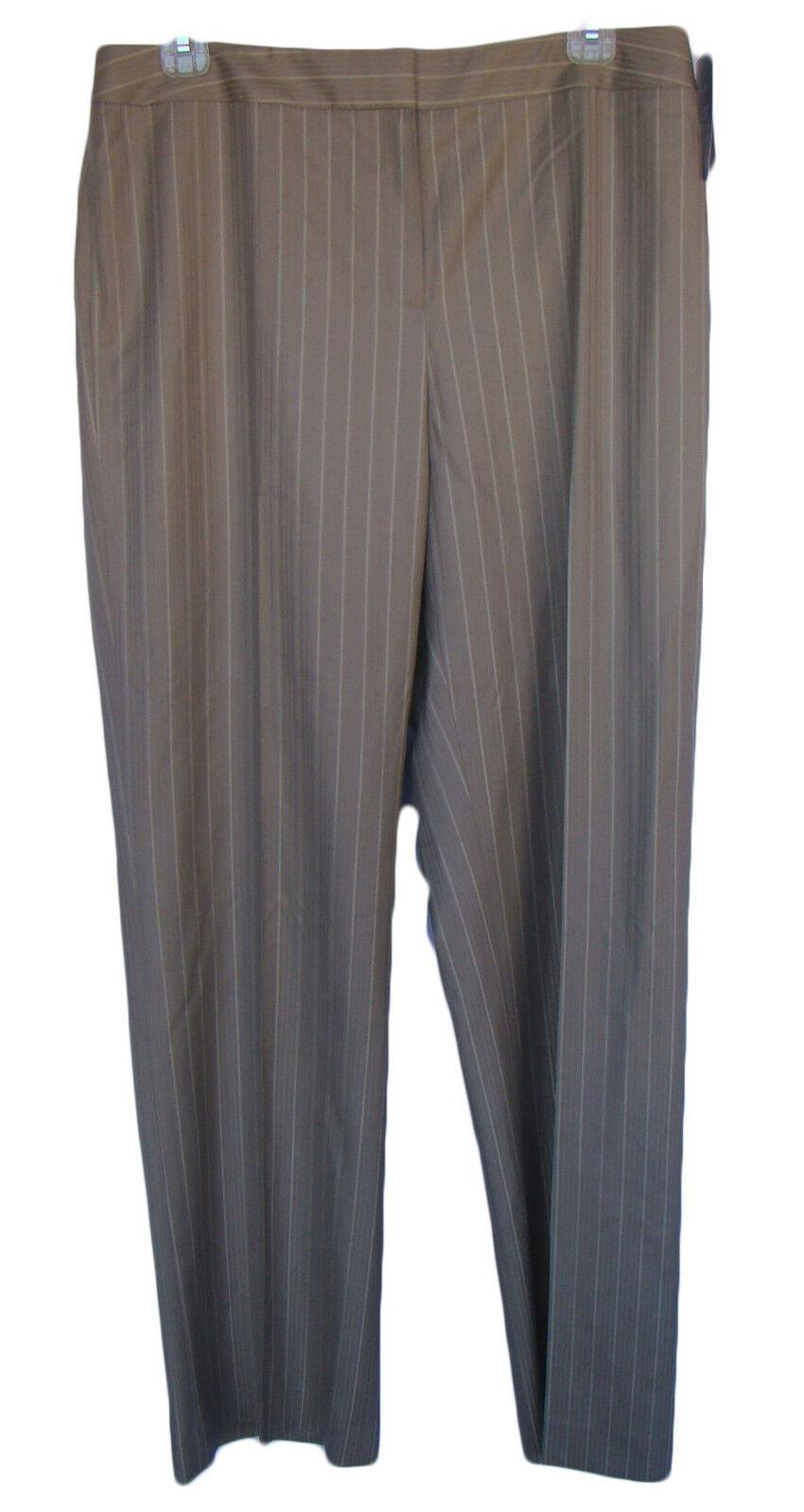 LAFAYETTE 148 NEW YORK Size 10 Beige Pinstripe Menswear Pants NWT  278 Wool Silk
