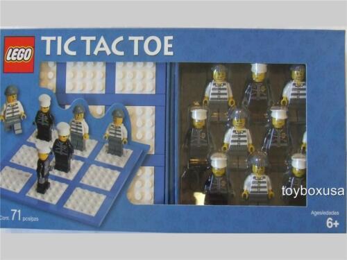 * New * Lego City Tic Tac Toe Game / Police + Crook Minfigs Fun Set / Rare Set