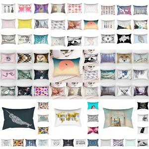 30-50cm-Rectangular-Pillow-Case-Sofa-Waist-Throw-Cushion-Cover-Home-Decor-Showy