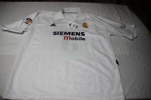 CAMISETA Futbol REAL MADRID ADIDAS TALLA XL SIEMENS MOBILE 5 Zinedine ZIDANE