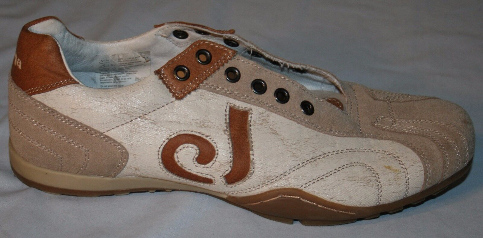 Joma Sneakers shoes Sz 9 Brown Beige Casual Athletic Leather Mens