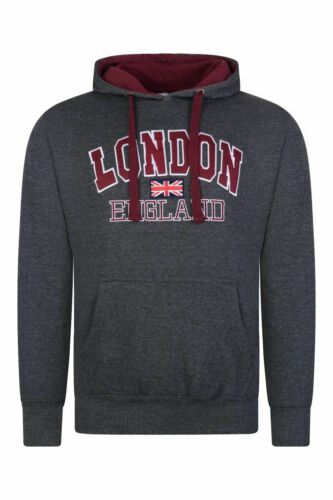 London England Embroidered Hooded sweatshirt Pull over Jumper