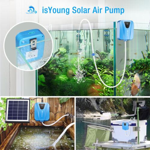 Solar Powered Pond Oxygenator Air Pump Oxygen Pool Aquarium Fish Tank Aerator