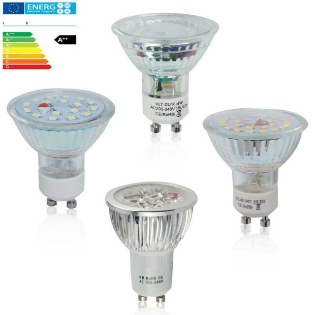 20/10er GU10 MR16 LED Lampe 3W 4W 5W 6W 7W Energiesparlampe Kaltweiß / Warmweiß