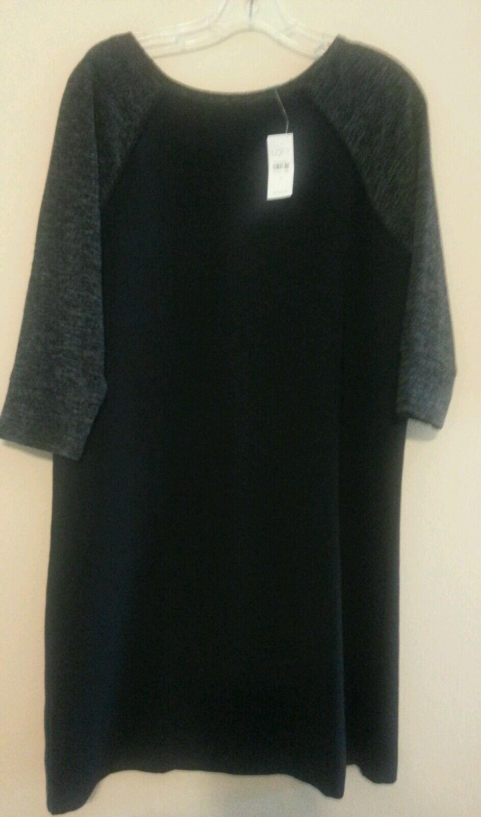 NWT Anne Taylor's loft sweater sleeves polyester body tunic tunic tunic dress Size 8 Retails 96fe15