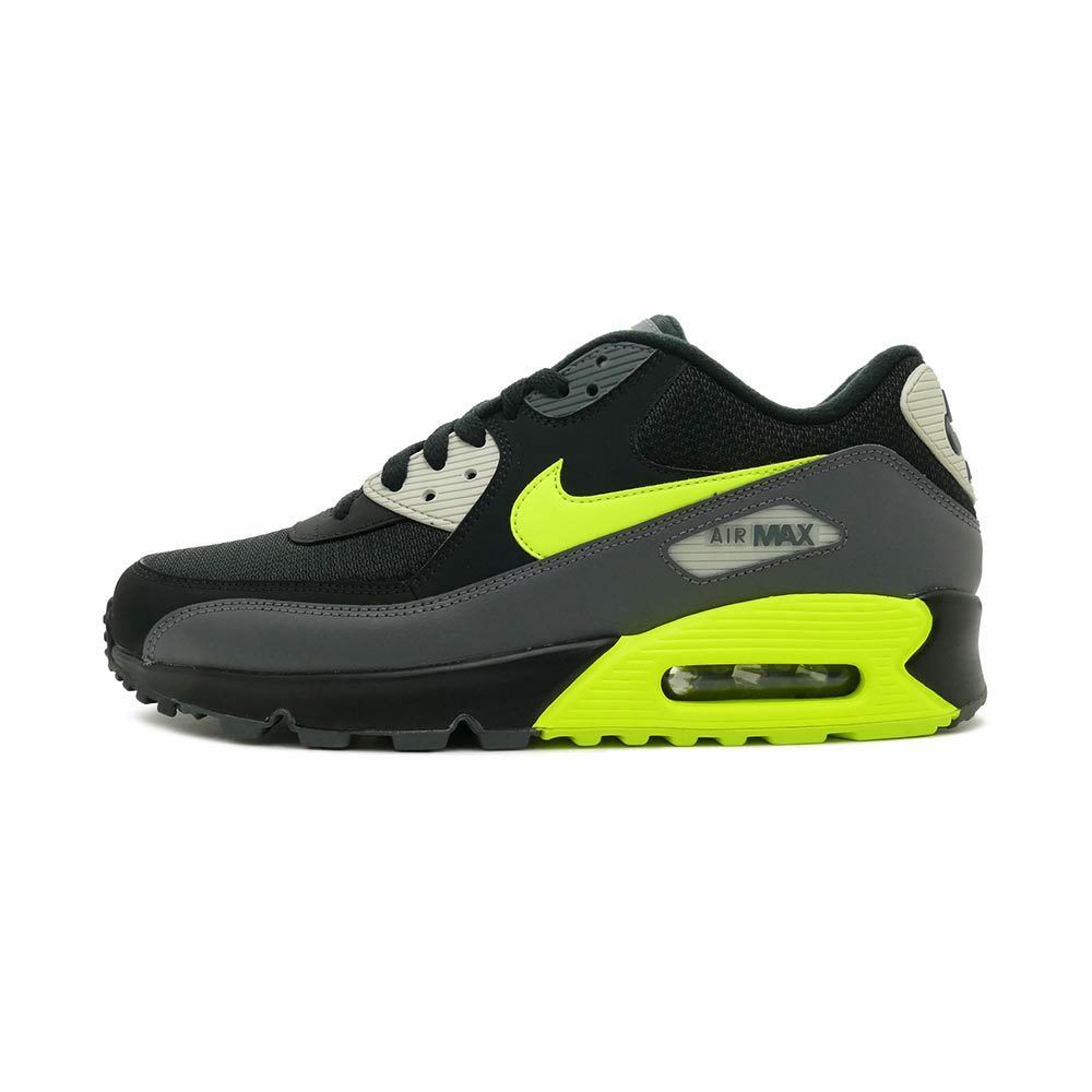 Nike Air Max 90 Essential Dark Grey Volt Black Light Bone Yellow AJ1285 015 Size