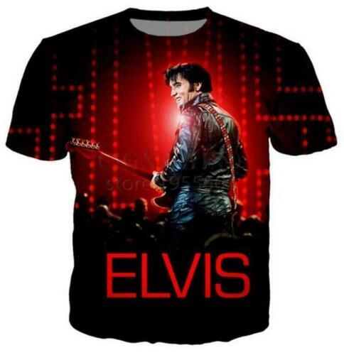 Newest Fashion Women//Men/'s 3D Print  Elvis Presley Casual T-Shirts