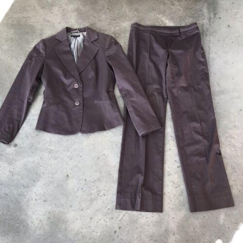 Sisley Grey Womens Pant Career Two Piece Gray Set