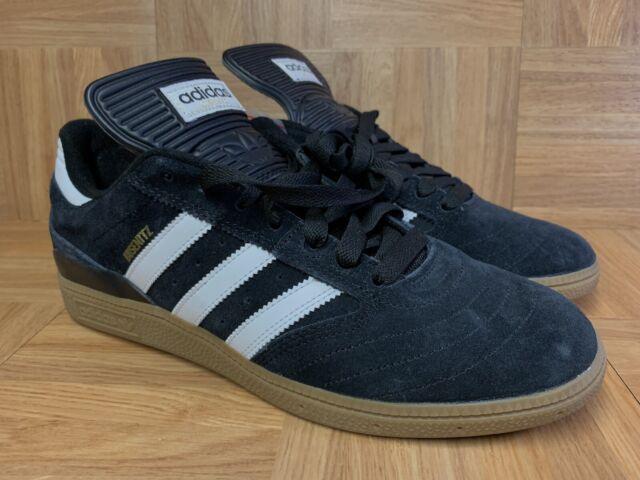 RARE🔥 Adidas Busenitz PRO Black White Gold Trainers Gum Sole Sz 10 Men's Shoes