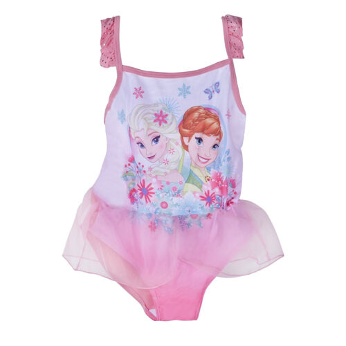 DISNEY congelato Elsa Anna Ragazze Rosa One Piece Nuoto Costume da bagno vestito costumi da bagno