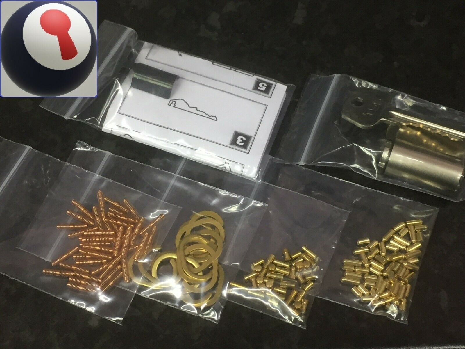 Locksmith Repinning basic kit Euro//Oval//Rim cylinders 1st P/&P included