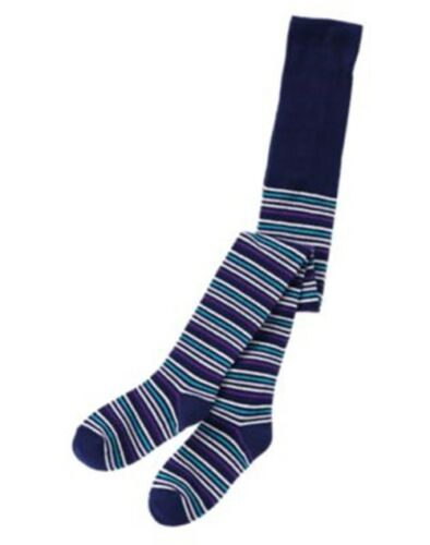 NWT Crazy 8 THE REAL TEAL Multi-Stripe Cotton Blend Fashion Tights