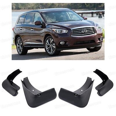 4Pcs Brand New Front Rear Mud Flaps Splash Guards For Infiniti JX35 2011-2014