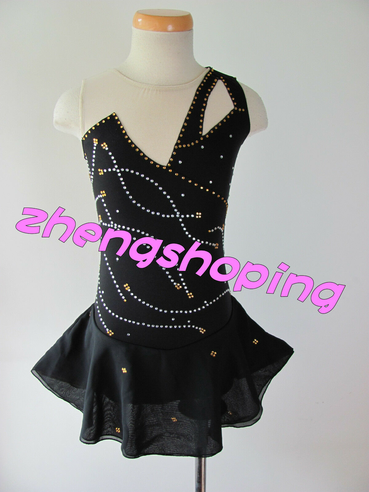 Girl's Premiere Ice Skating Dress Competition  Twirling Leotard  Dress 6792-1