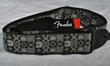 "FENDER FESTIVAL HOOTENANNY GREY/BLACK GUITAR STRAP 2"""