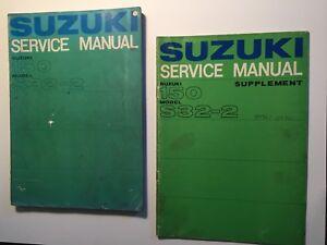 image is loading set-vintage-suzuki-150-s32-service-manual-parts-