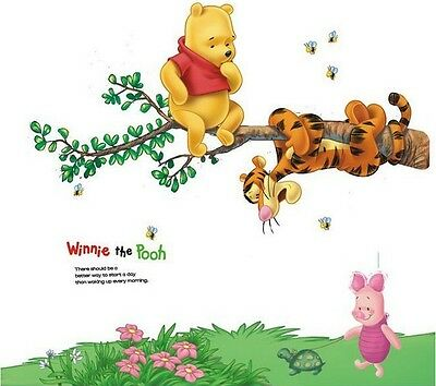 Winnie The Pooh Wall Art Decal Removable Nursery Kids Stickers Home Decor New