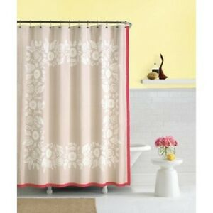 Image Is Loading KATE SPADE Morningside Heights SHOWER CURTAIN Tan Coral