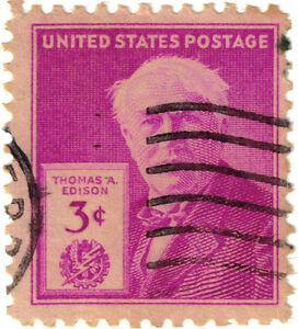 USA271-1947-3c-violet-Thomas-A-Edison-ow942