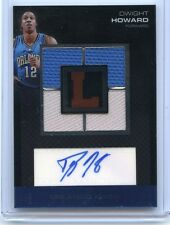 2007-08 TOPPS LETTERMEN #QRA-DH DWIGHT HOWARD AUTOGRAPH 4-JERSEY #58/75, MAGIC