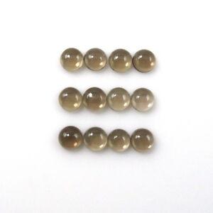 Un par de 9 mm redondas de Cabujón-Corte Natural Africano Labradorita Piedras Preciosas