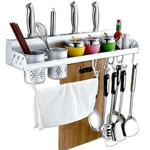 Alumimum Kitchen Hanging Organizer Pot Cutlery Holder Rack