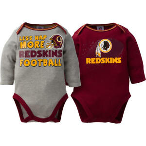 7eadfb7d5 Washington Redskins NFL Infant Boys' 2-Pack Long-Sleeve Bodysuits 3 ...