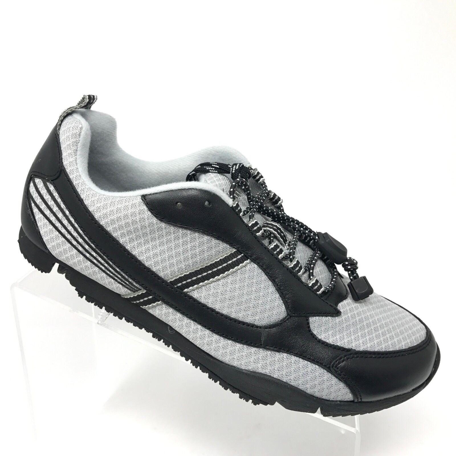 Dr Comfort GARY Orthopedic Sneaker Black Gray Mesh Comfort Shoe Mens SIZE 9 XW