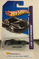 Ferrari 458 Spider #151 * BLACK w/ Tan Interior * 2013 Hot Wheels *J11