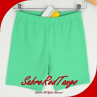 NWT HANNA ANDERSSON SOLID BIKE SHORTS FIREFLY GREEN 110 6