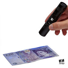UV ULTRAVIOLET 365NM TORCH COUNTERFEIT FAKE FORGED BANKNOTE MONEY DETECTOR CHECK