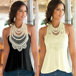 Fashion-Women-Summer-Lace-Vest-Top-Sleeveless-Casual-Tank-Blouse-Tops-T-Shirt