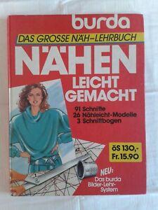 Burda Großes Näh-Lehrbuch - Nähen leicht gemacht, Fachbuch 1986