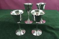 A nice set of 4 vintage Italian Goblets sliver plated VGC sherry