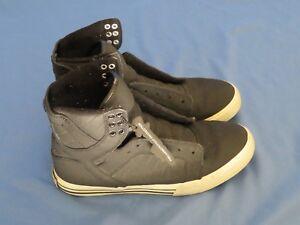 1dcc52e49122 Men s Supra Skate Sneakers Shoes Skytop High Black   White Size 7 ...
