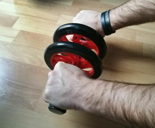 Rullo Ruota Roller e tappeto Allenamento Addominali Girovita Esercizio Fitness
