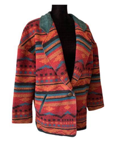 Pioneer Wear Indian Blanket Jacket Southwestern Ch