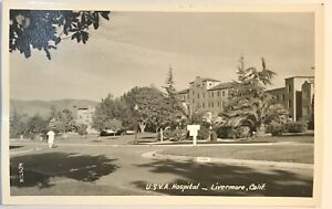 Livermore CA USVA Hospital Front Of Hospital Card Picture RPPC Postcard
